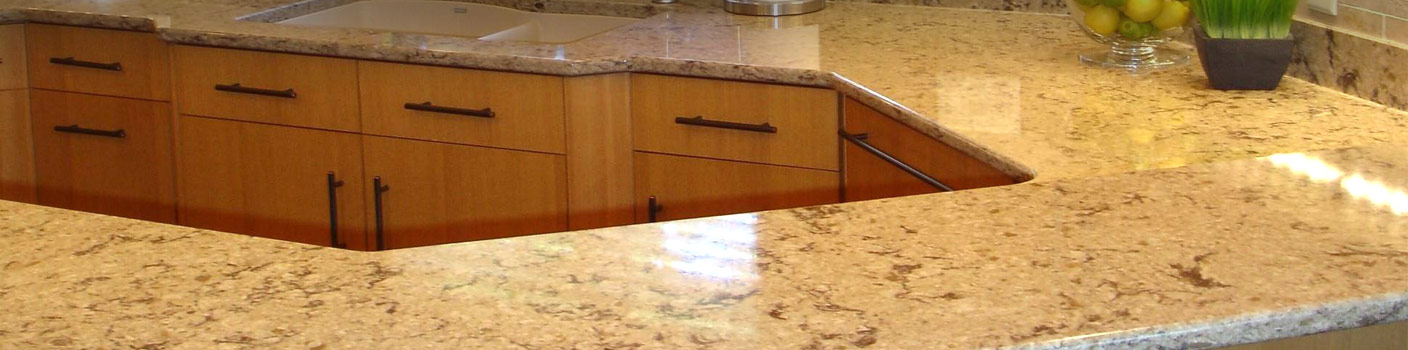 Custom kitchen cabinets and countertop created by Southern Minnesota Woodcraft in Faribault, MN